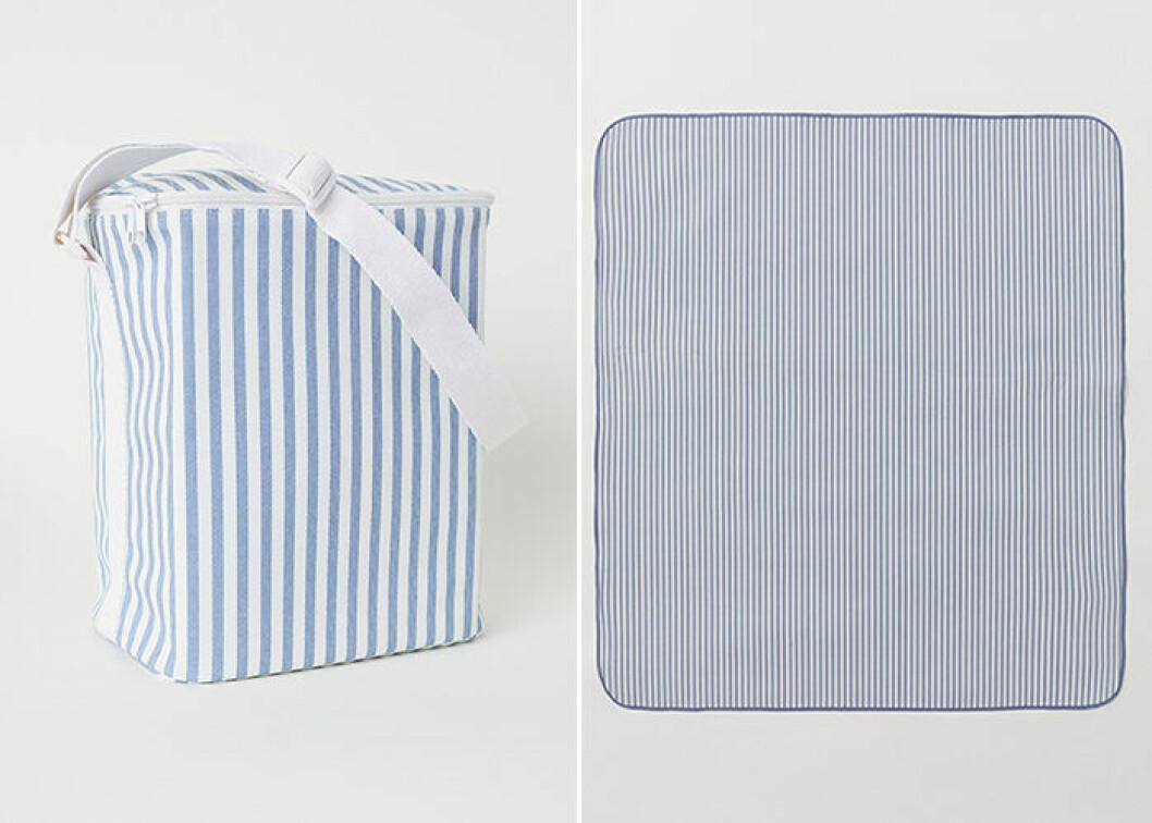 Matchande picknickfilt och kylväska från H&M Home