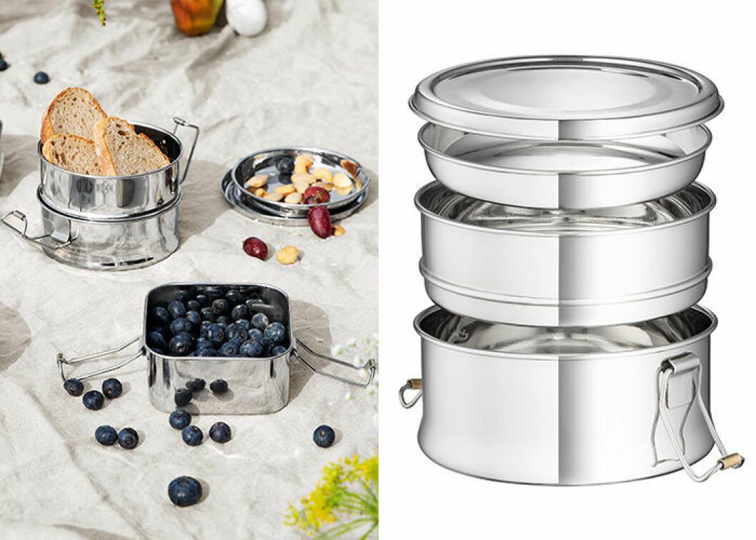 Rostfri matlåda från Granit - perfekt för picknick