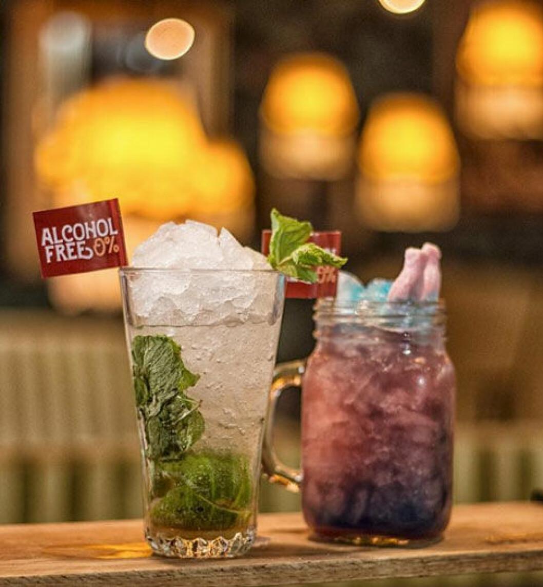Pinchos har ett bra utbud av alkoholfria drinkar.