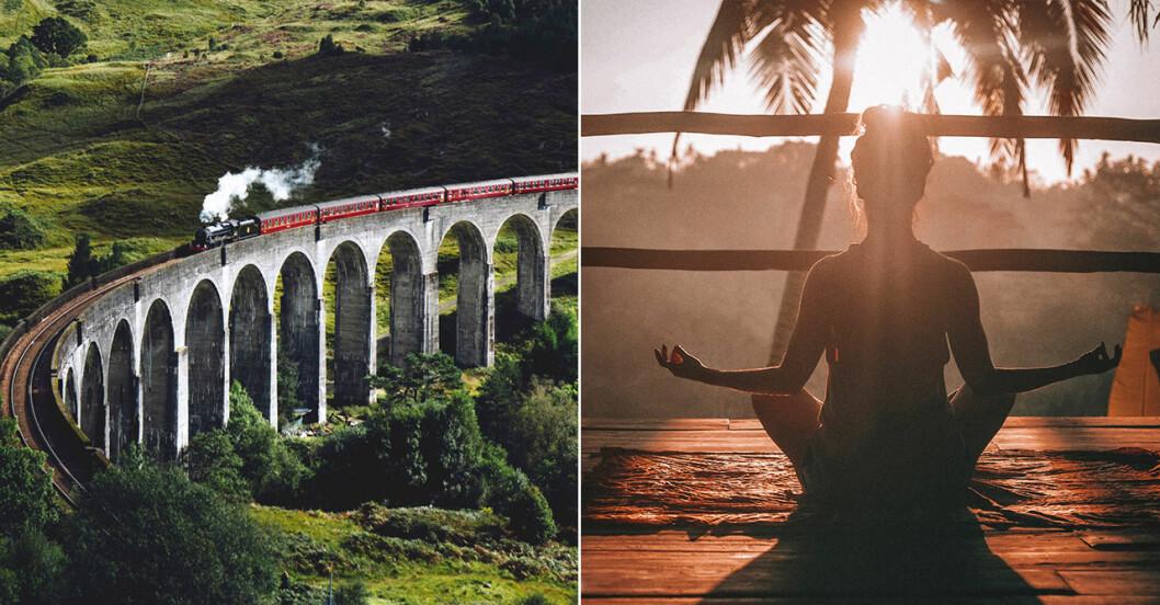 tåg och yoga