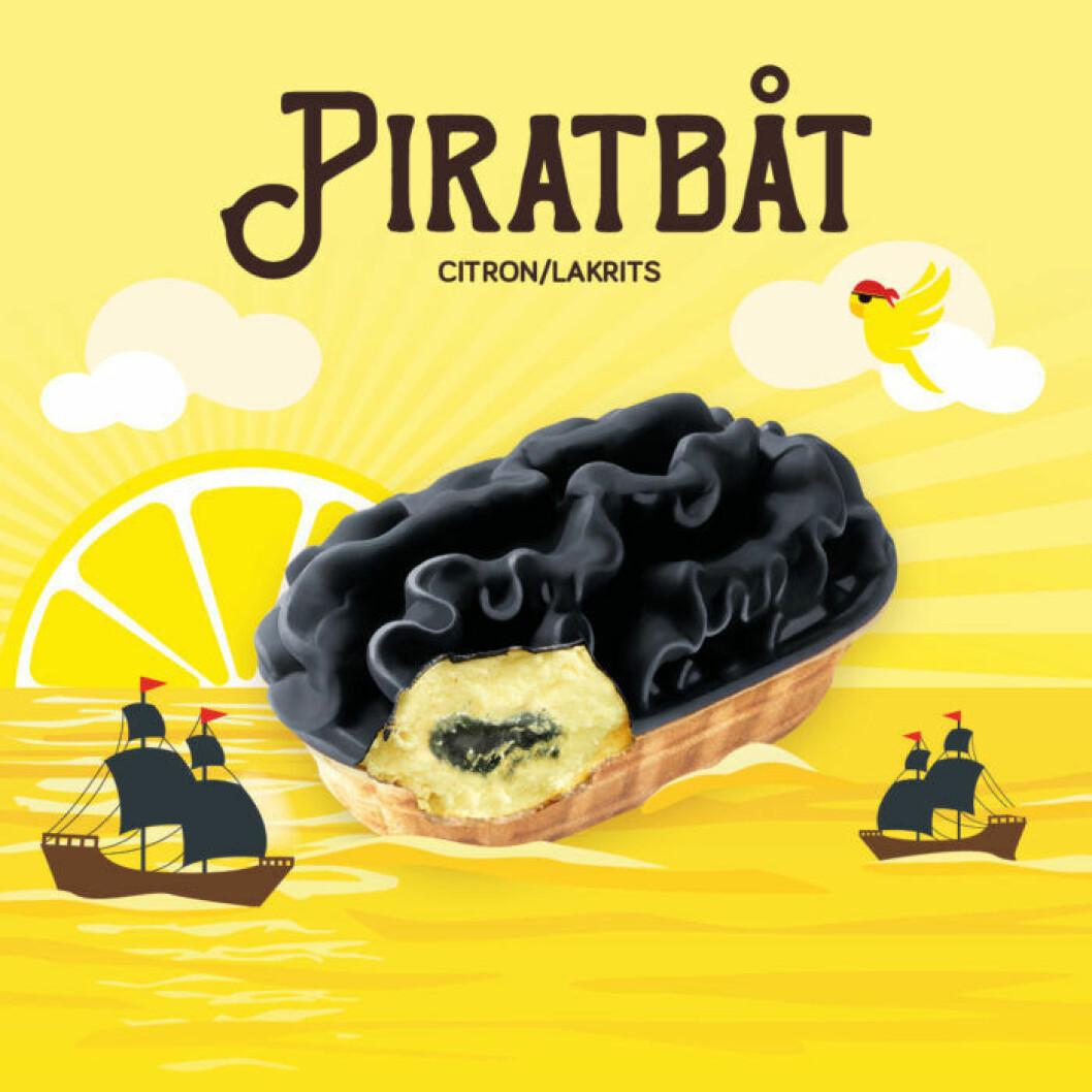 Piratbåt citron lakrits