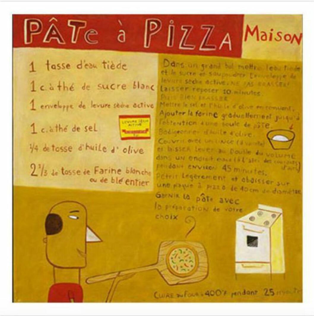 Pizzaposter av Céline Malépart.
