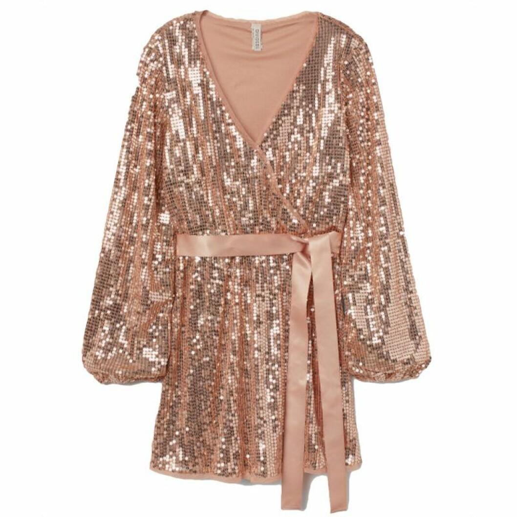 Rosa glitterklänning