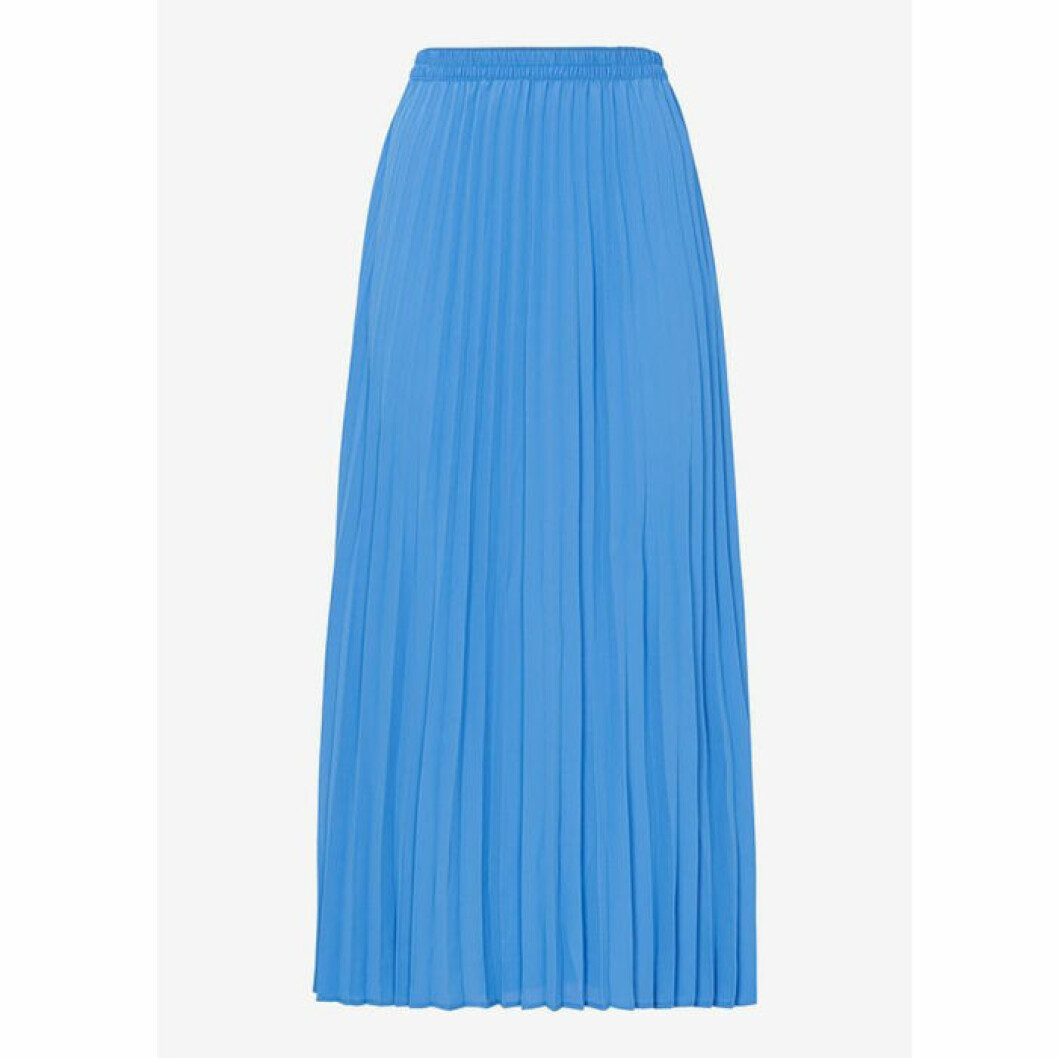 Plisserad blå kjol