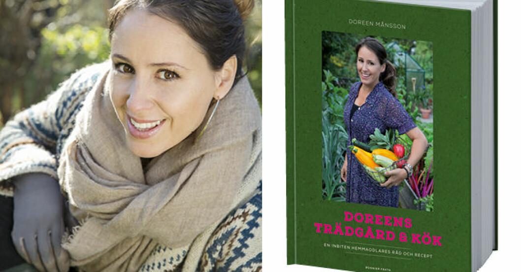 porträtt Doreen och bokomslag