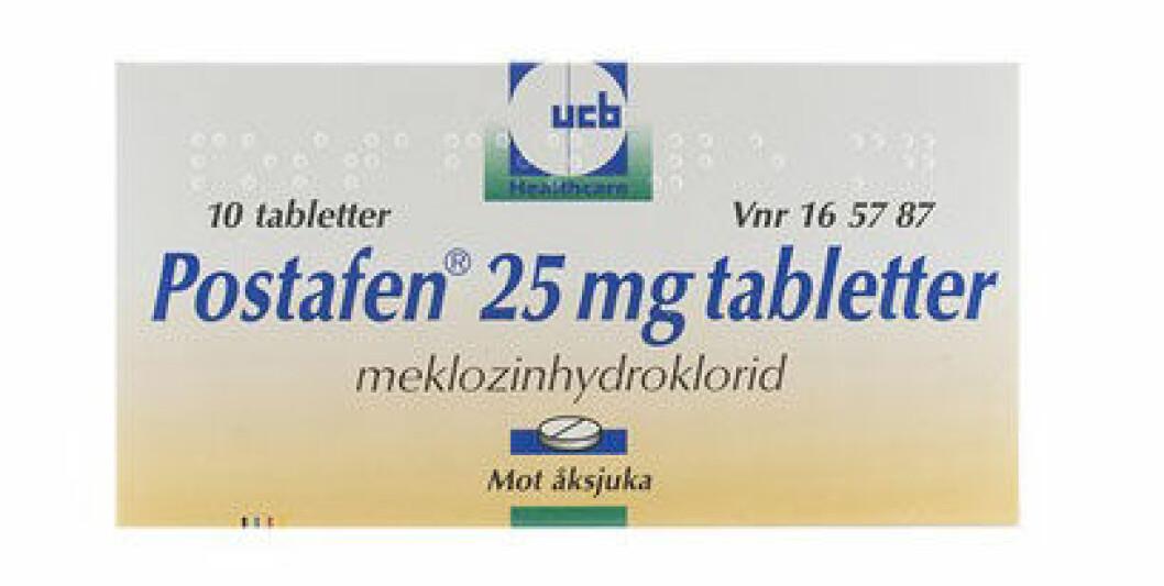 Åksjuketabletten Postafen.