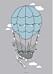 Poster till barnrummet med luftballong från Bloomingville