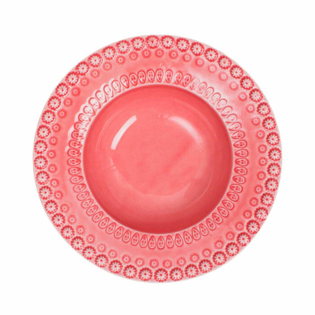 Rosa tallrik från Pottery Jo