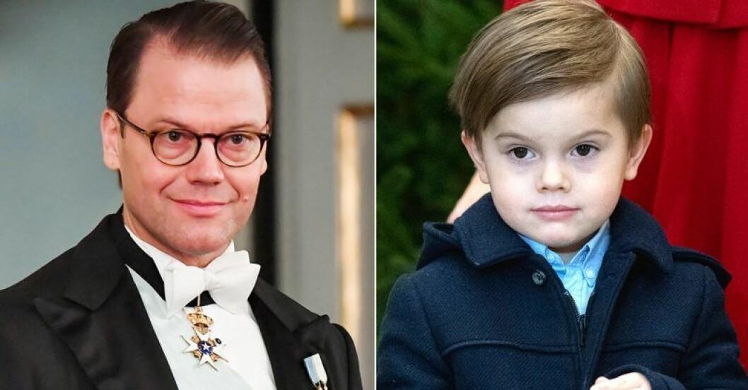 Prins Daniel och sonen Oscar - lika som bär