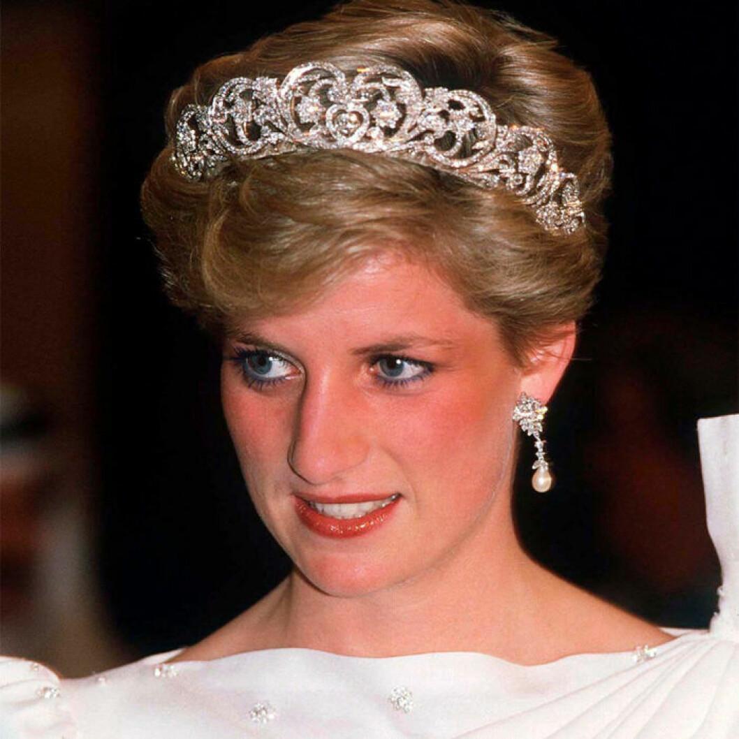 Prinsessan Diana hade ofta blå eyeliner