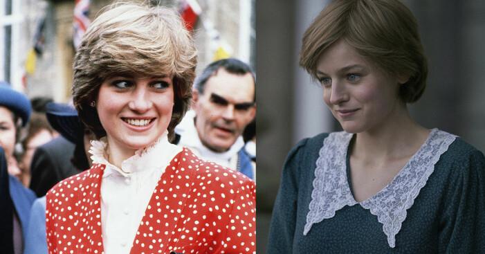 Prinsessan Diana och Emma Corrin.