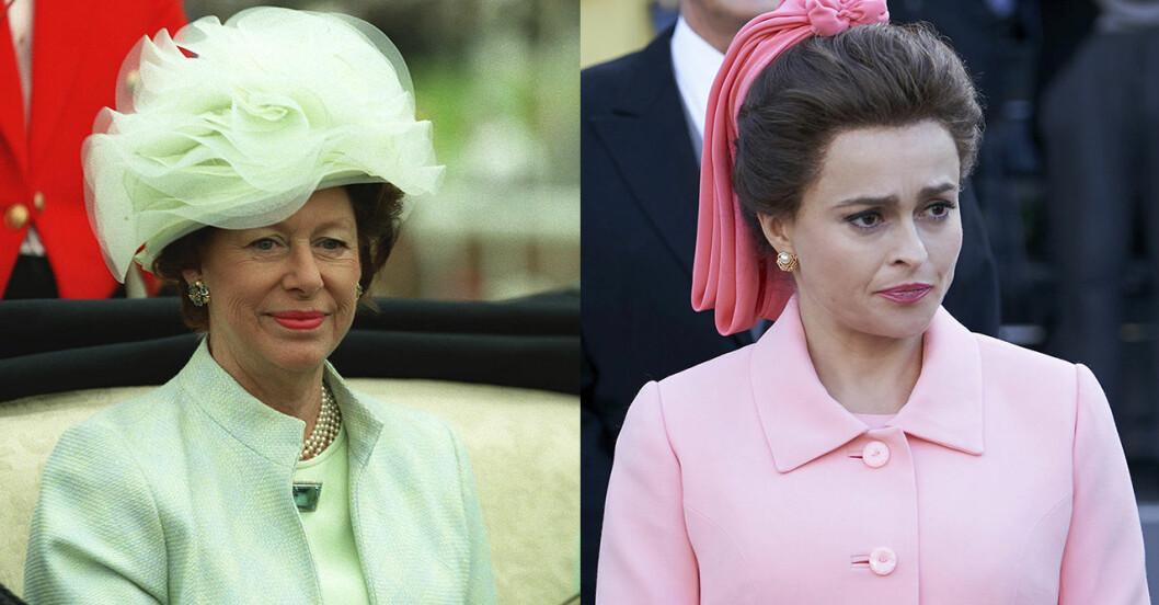 Prinsessan Margaret och Helena Bonham Carter.