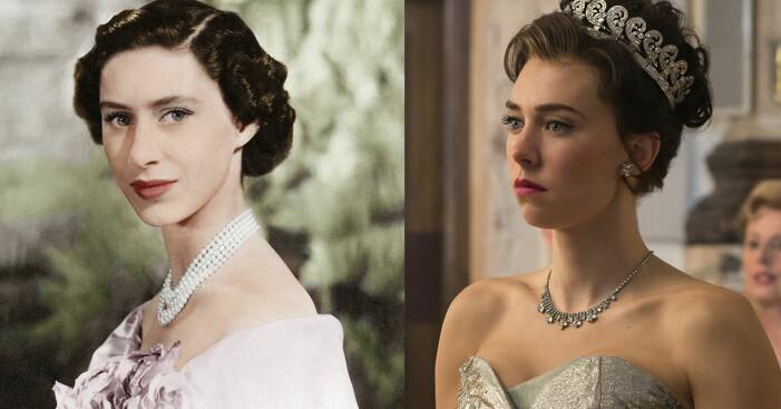 Prinsessan Margaret och Vanessa Kirby.