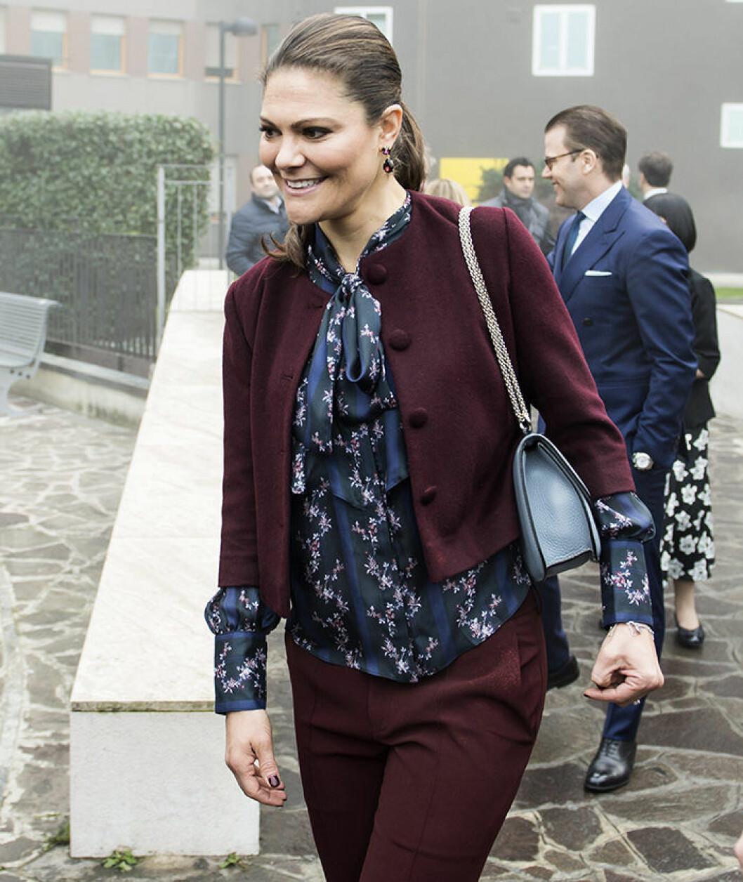 Crown Princess Victoria, Visit to hospital San Raffaele, Milan, Italy Swedish Royals visit to Milan, Italy 2016-12-17 (c) Carolina Byrmo / IBL BildbyrKronprinsessparets resa till Milano, Italien - besˆk pforskningssjukhuset San Raffaele
