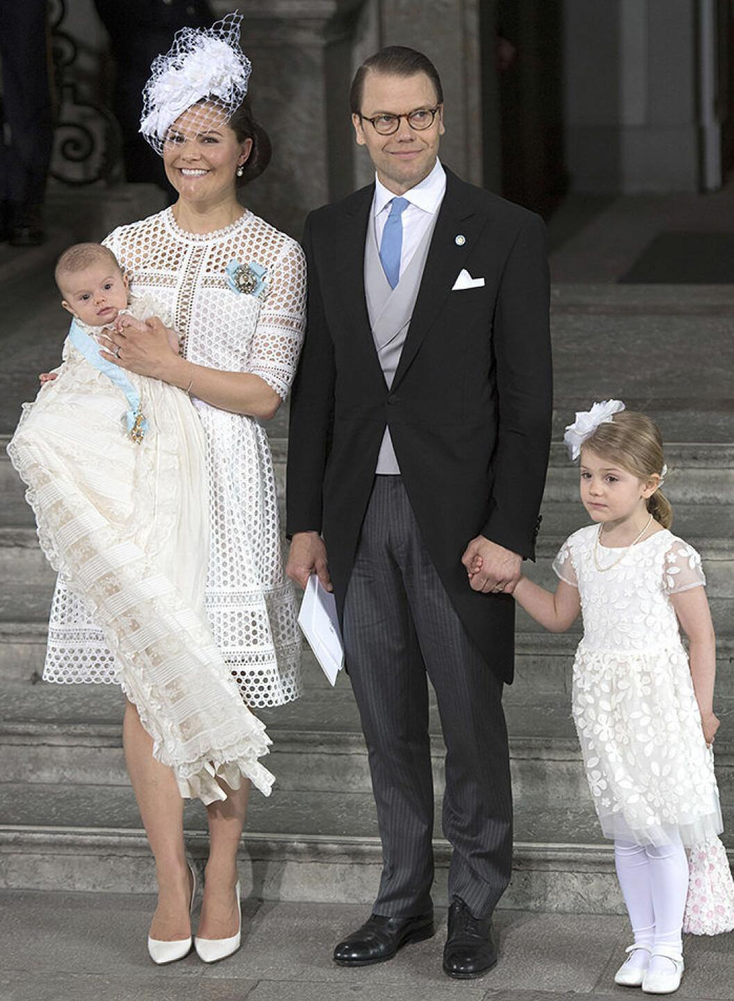Crown Princess Victoria, Prince Daniel and Prince Oscar of Sweden Princess Estelle, Duchess of Östergötland