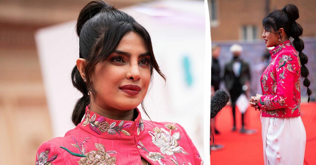 Priyanka Chopra har moderna frisyren.