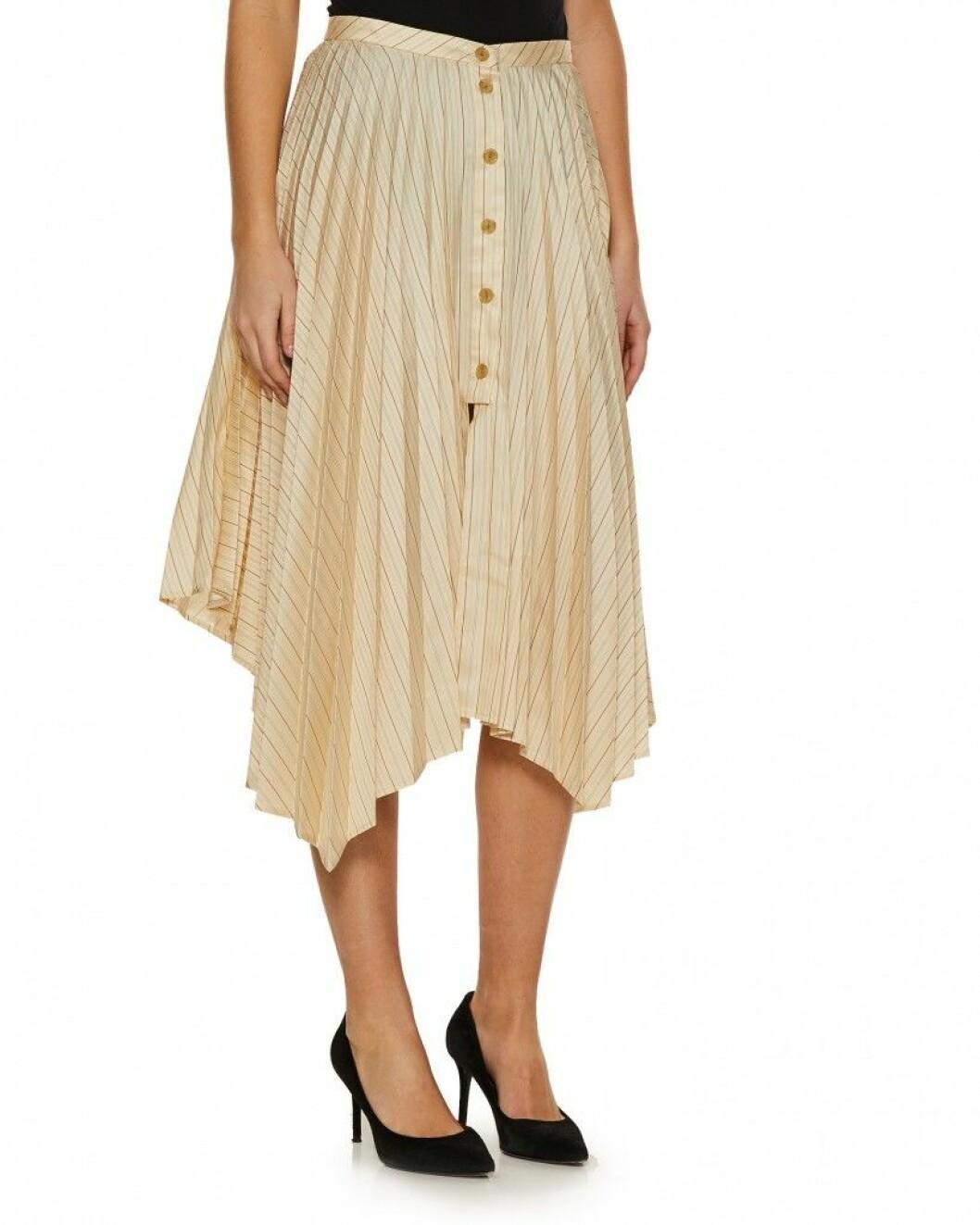 asymmetrisk kjol gul