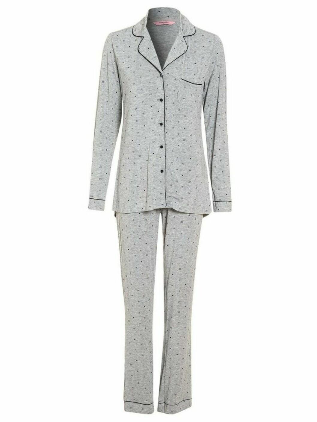 Grå pyjamas från Hunkemöller