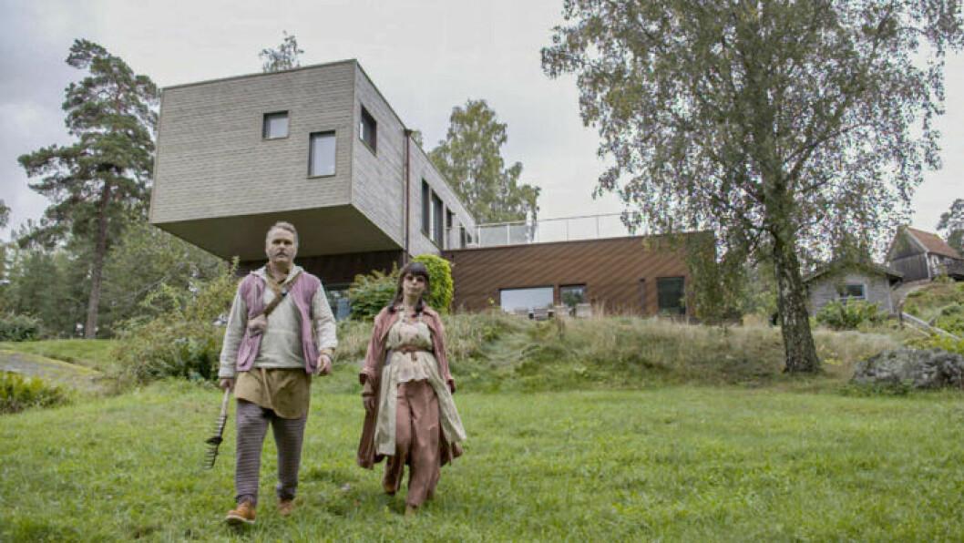 Erik Haag och Lotta Lundgren från SVT-serien Rapport från 2050.