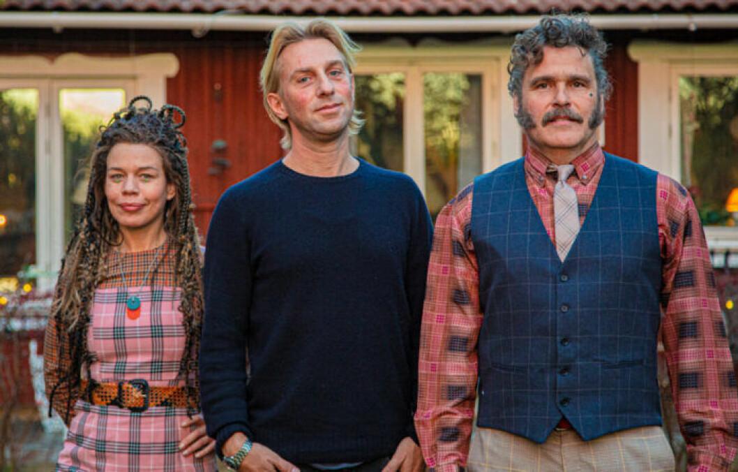 Lotta Lundgren, Anders Hansen och Erik Haag från SVT-serien Rapport från 2050.