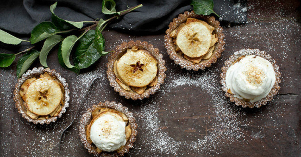 Glutenfria miniäppelpajer