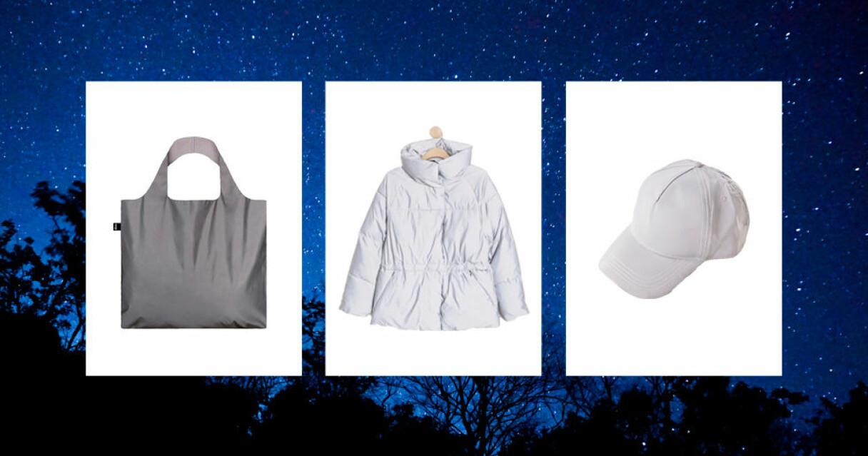 reflexkläder och accessoarer som lyser i mörkret