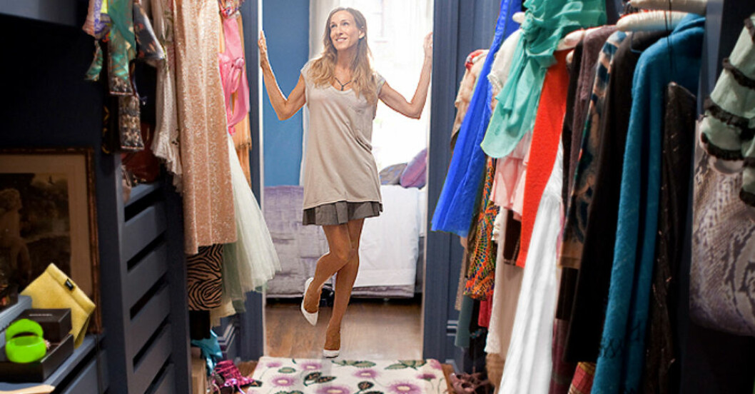 rensa garderoben