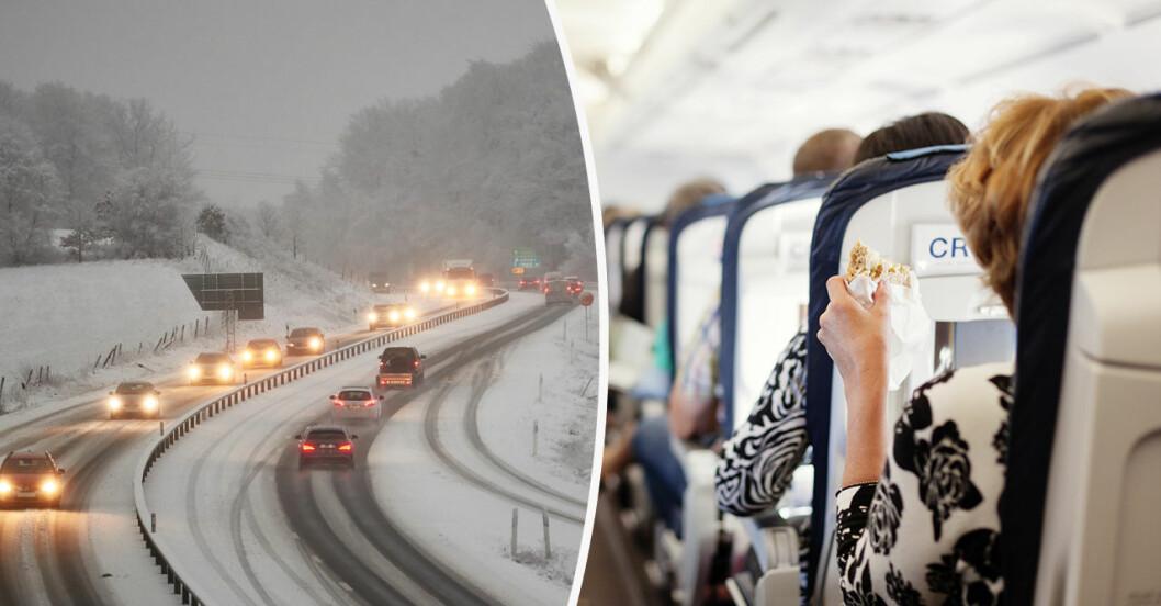 resvägar i jul, med bil eller kollektivtrafik