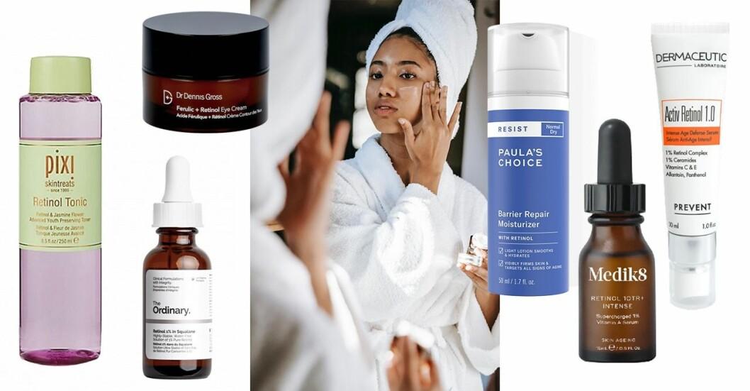 Retinol är en ingrediens i hudvård som minskar fina linjer, rynkor, akne, pigmenteringar och andra hudbesvär.