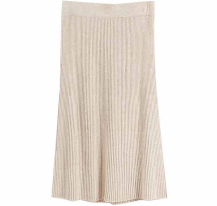 ribbstickad kjol lindex