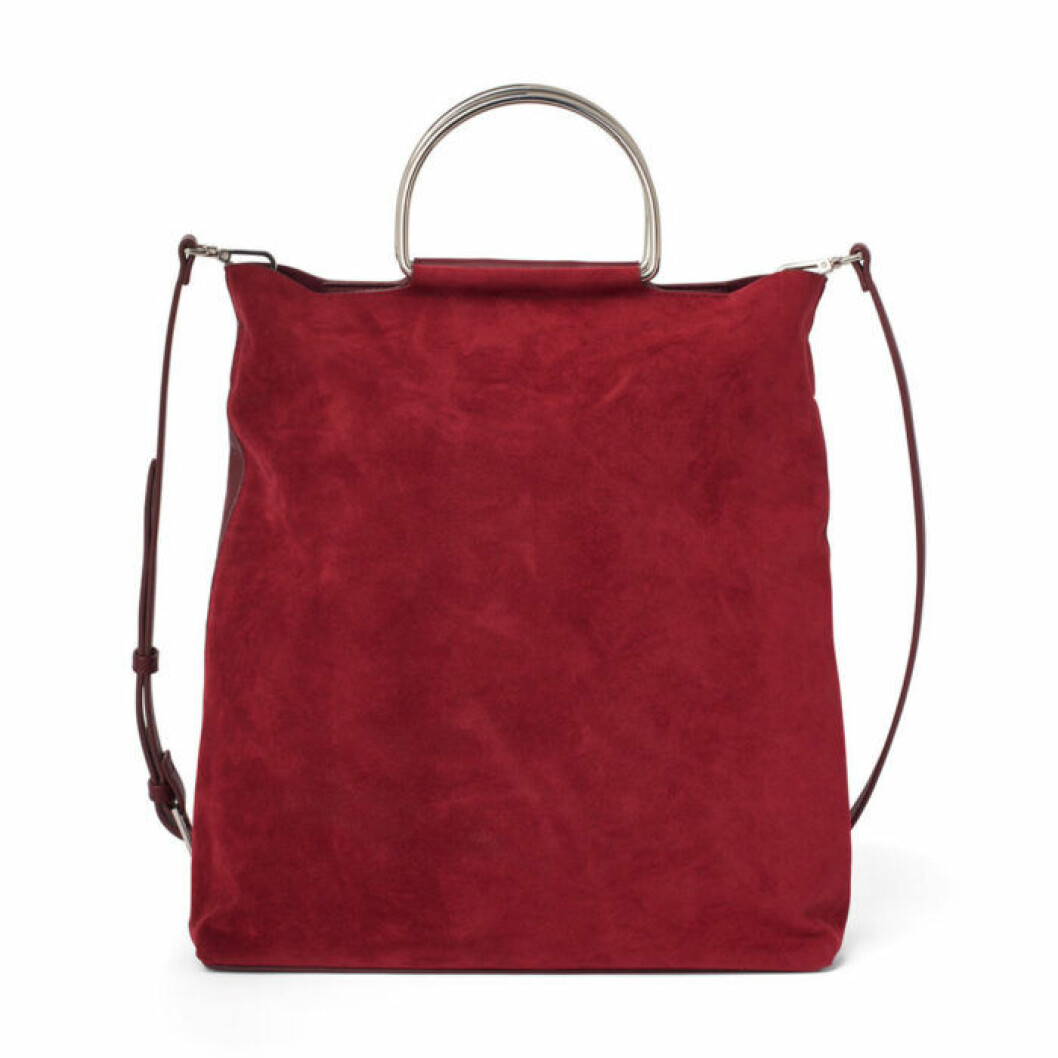 Röd handväska