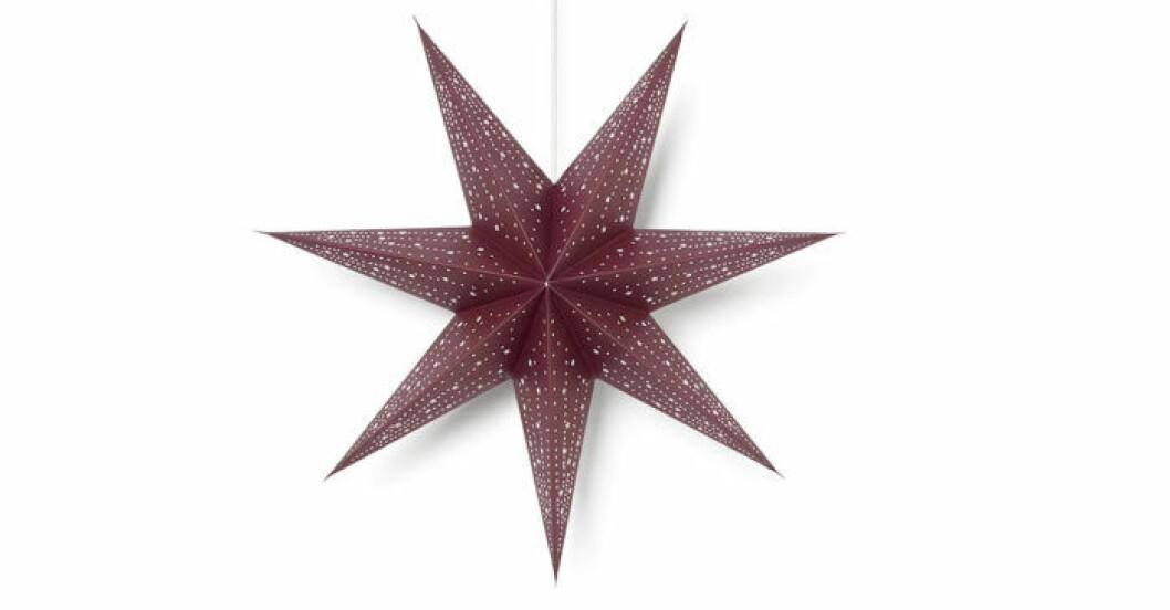 Röd julstjärna Åhlens