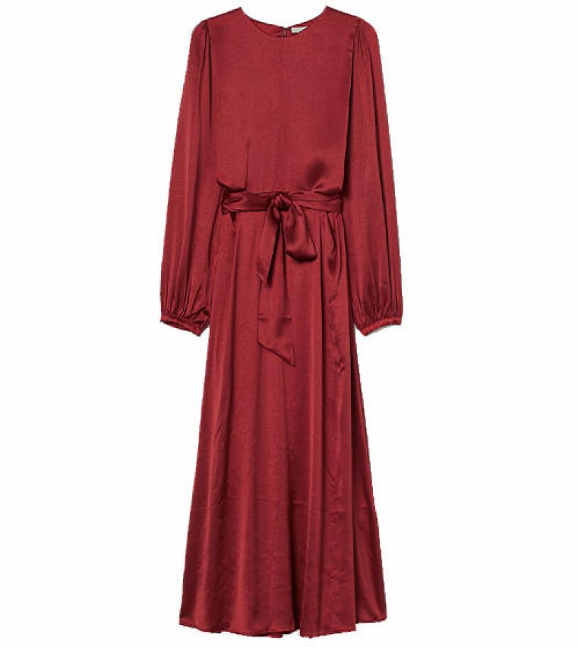 röd klänning hm