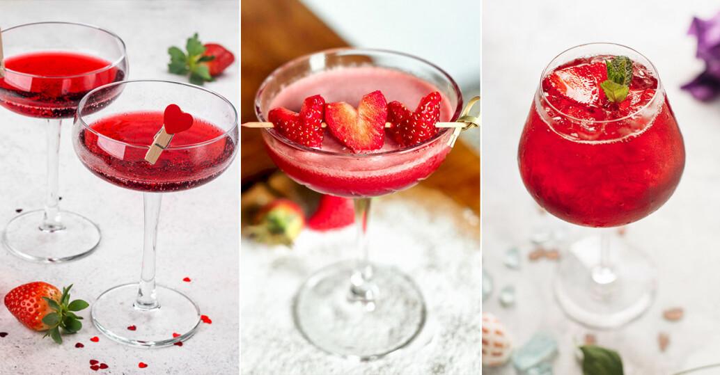 tre röda cocktails