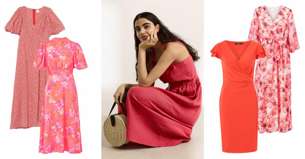 Röda klänningar sommaren 2021