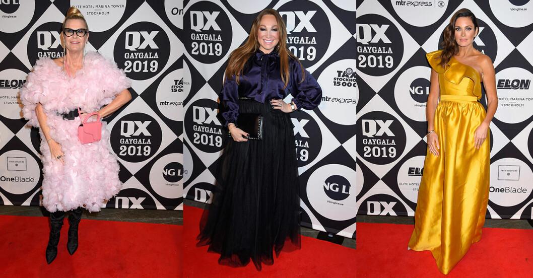 Kändisar på röda mattan QX-galan 2019