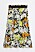 Midikjol med blommönster i vitt, orange och gult på svart bakgrund. Kjol från Rodebjer.