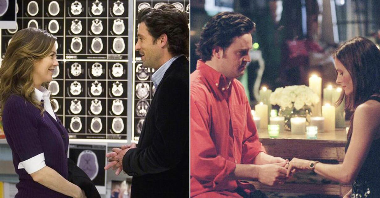 Meredith och Derek och Chandler och Monica