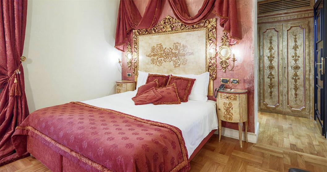 Ett ekonomirum på Hotel Sant'Anselmo i Rom.