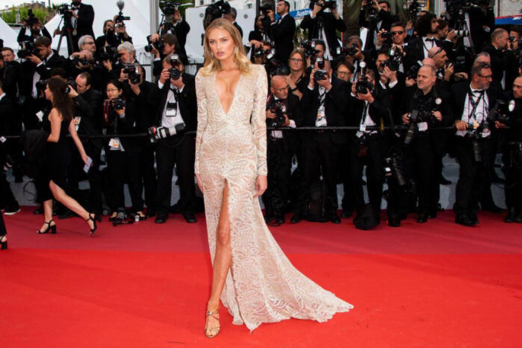 Romee Strijd på filmfestivalen i Cannes 2019