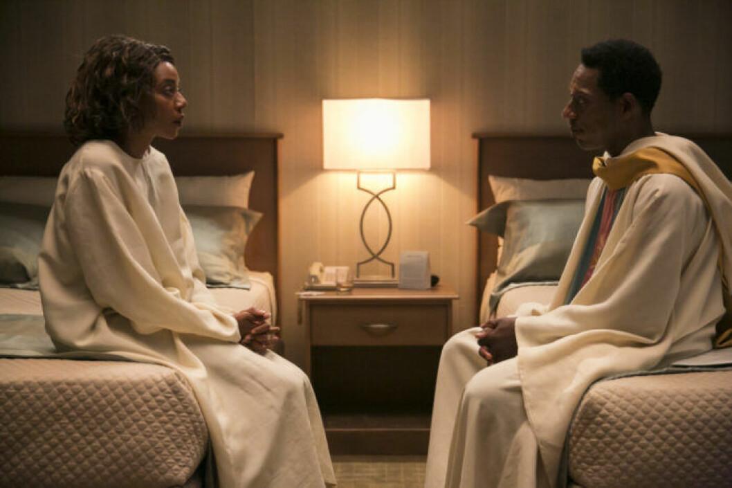 En bild på karaktärerna i tv-serien Room 104 som visas på HBO.