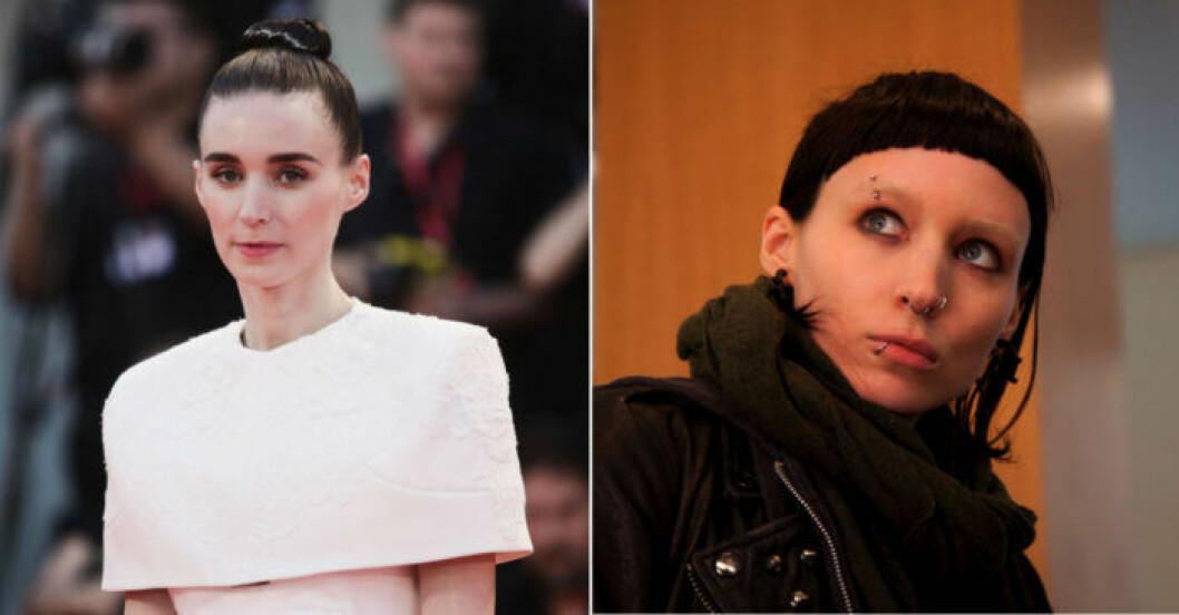 RooneyMara ändrade sin look inför rollen som Lisbeth Salander.