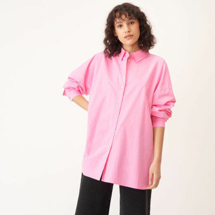 rosa skjorta dam