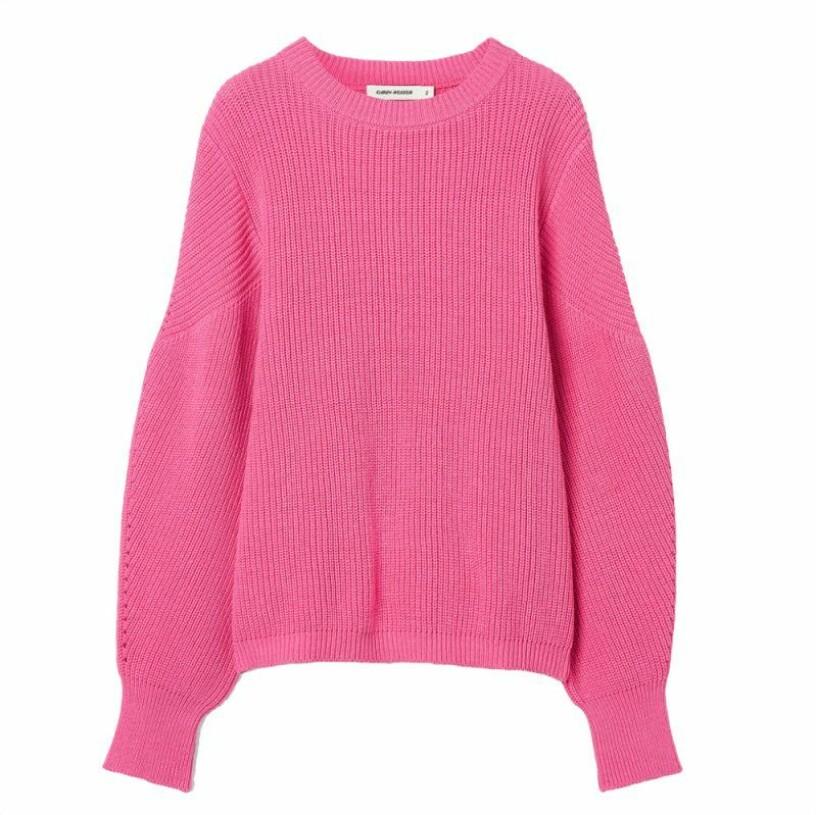 Rosa stickad tröja från Carin Wester