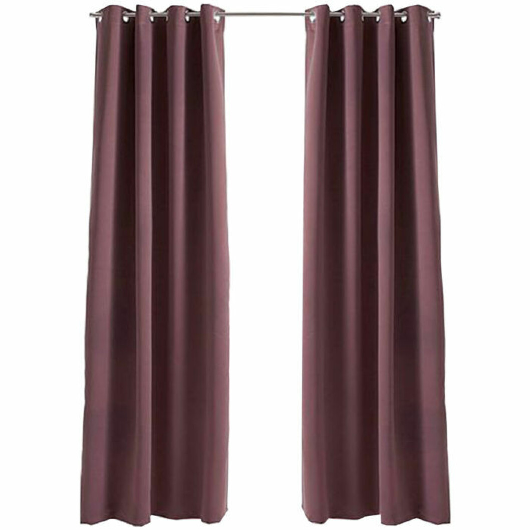 Rosa gardiner från Ellos, mörkläggning