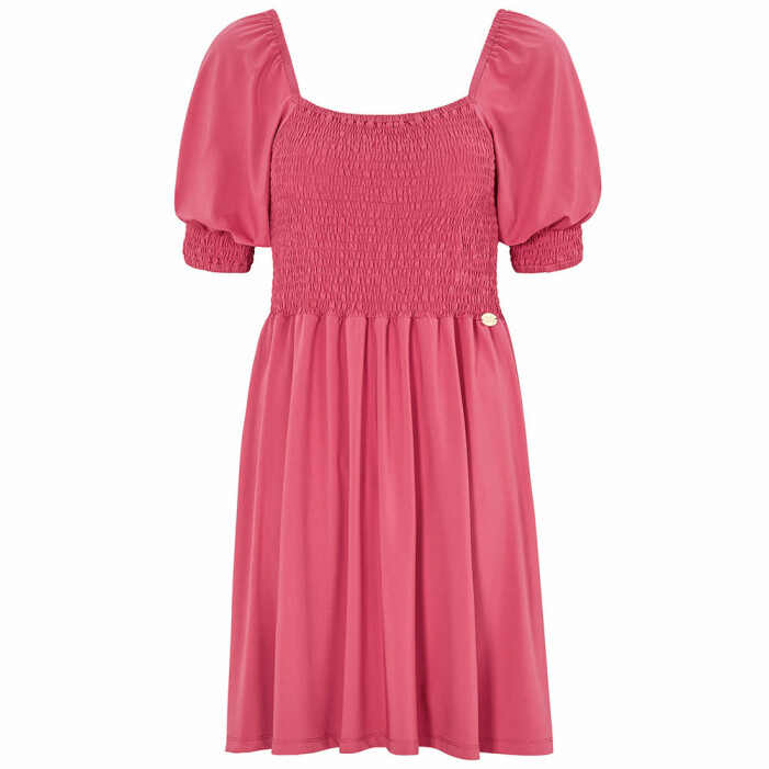 rosa klänning med smock