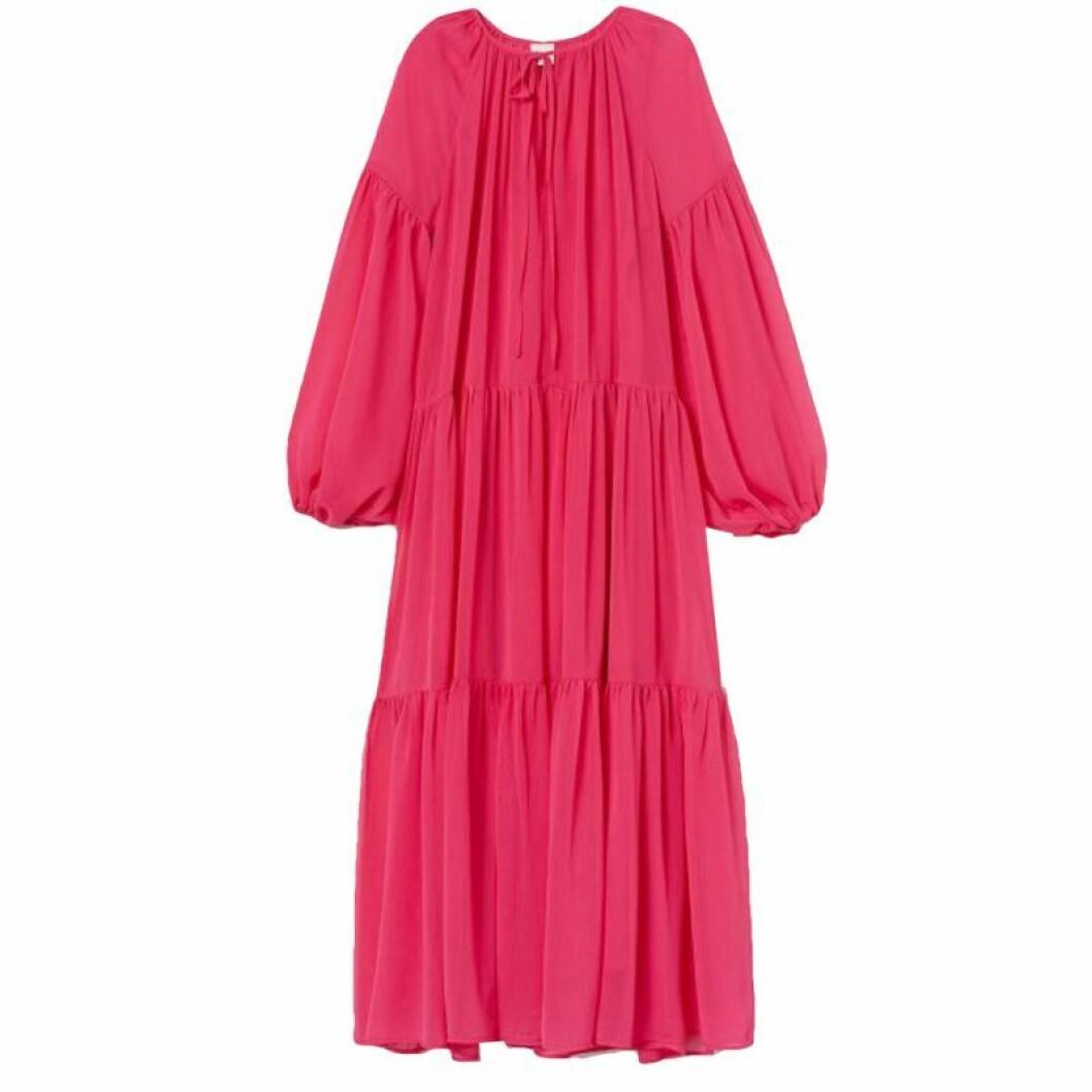 Rosa maxiklänning från H&M