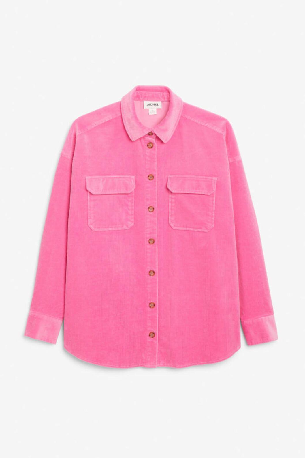 rosa manchesterskjorta från Monki