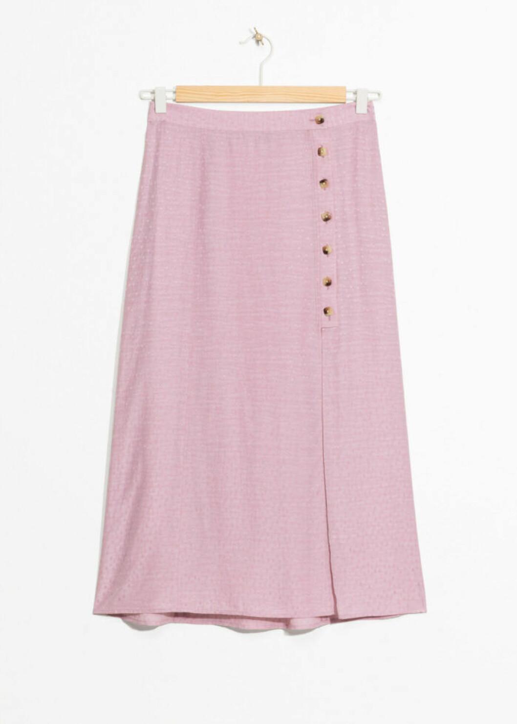 Rosa medellång kjol