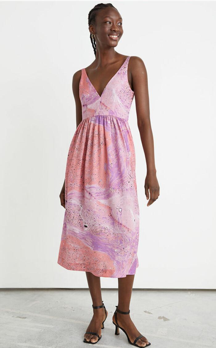 rosa mönstrad klänning & Other Stories